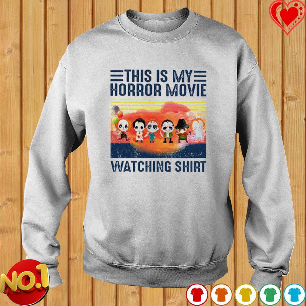 Horror characters chibi this is my horror movie watching s sweater
