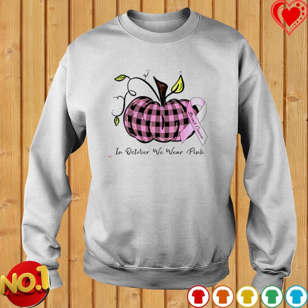 Pumpkin Breast Cancer in October we wear Pink s sweater