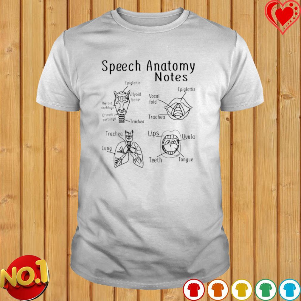 Speech Anatomy notes shirt