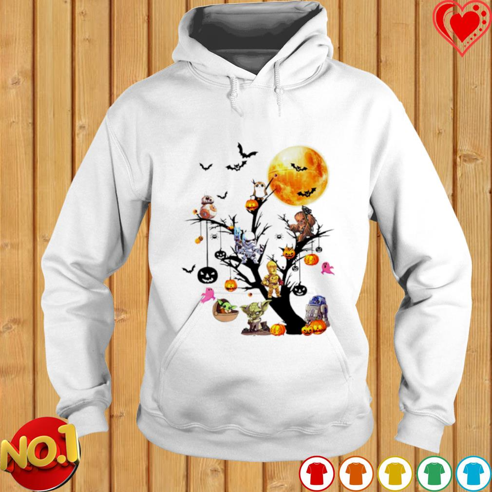Star Wars characters chibi on Halloween tree s hoodie
