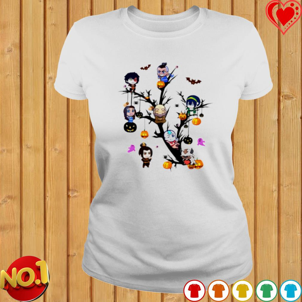 The Last Airbender characters chibi on the tree Halloween s ladies-tee