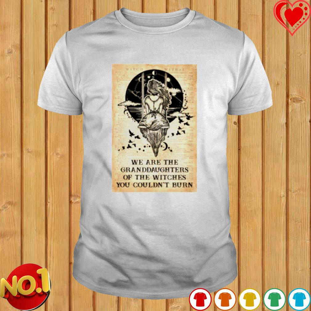 We are the Granddaughters of the witches you couldn't burn shirt