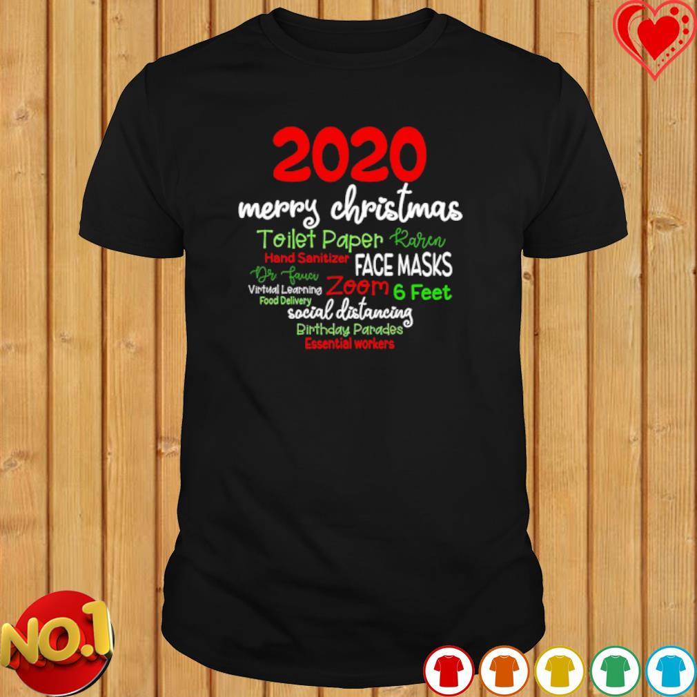 2020 merry Christmas toilet paper Karen hand sanitizer face masks shirt