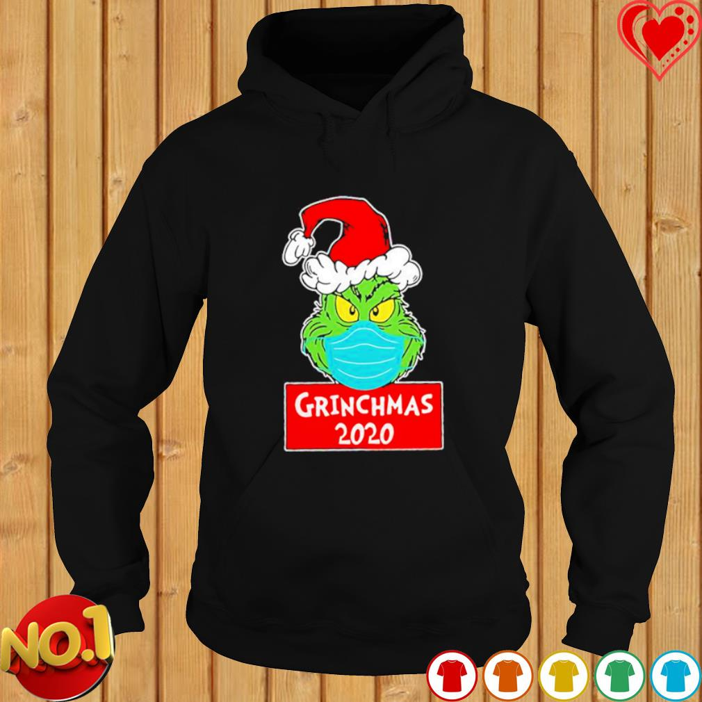 Grinch face mask grinchmas 2020 Christmas s hoodie