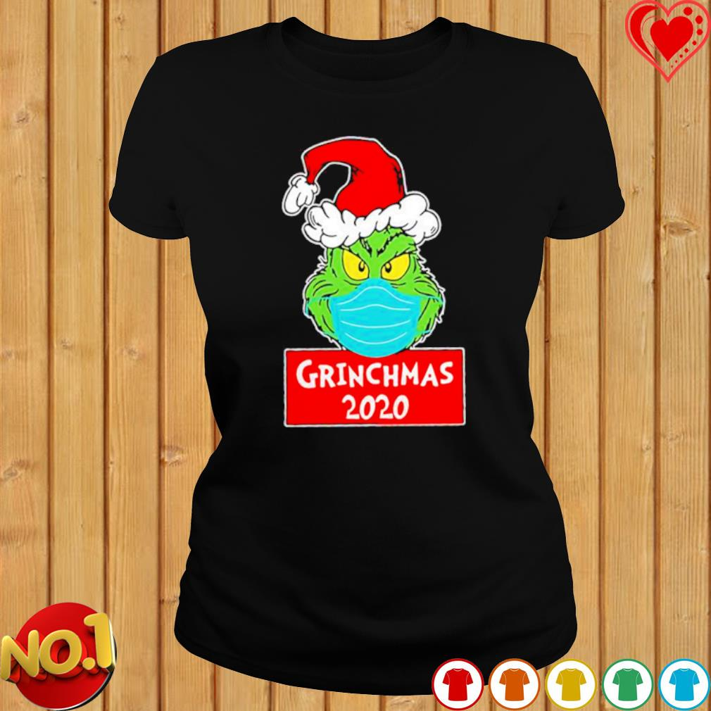 Grinch face mask grinchmas 2020 Christmas s ladies-tee