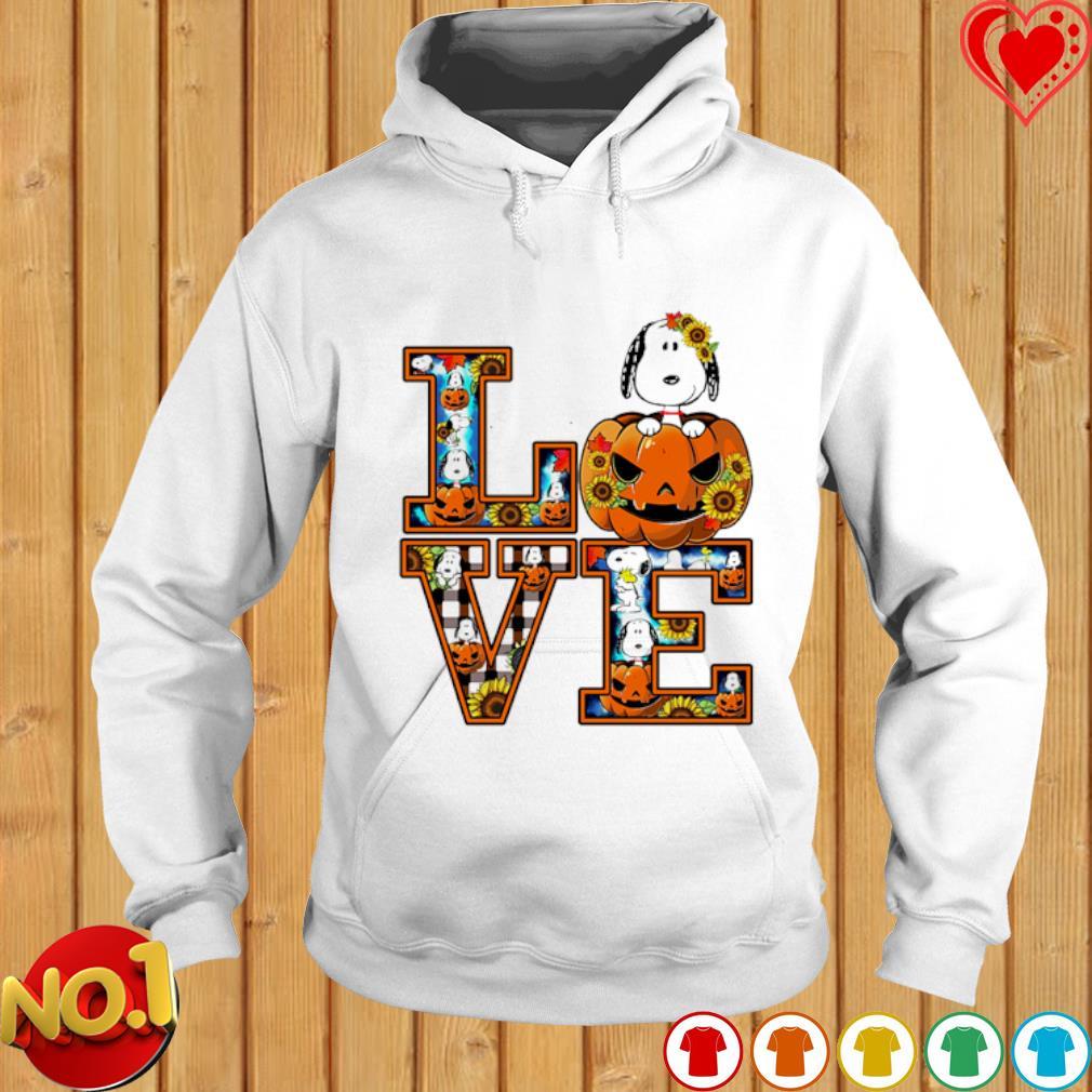 Snoopy pumpkin love Halloween s hoodie