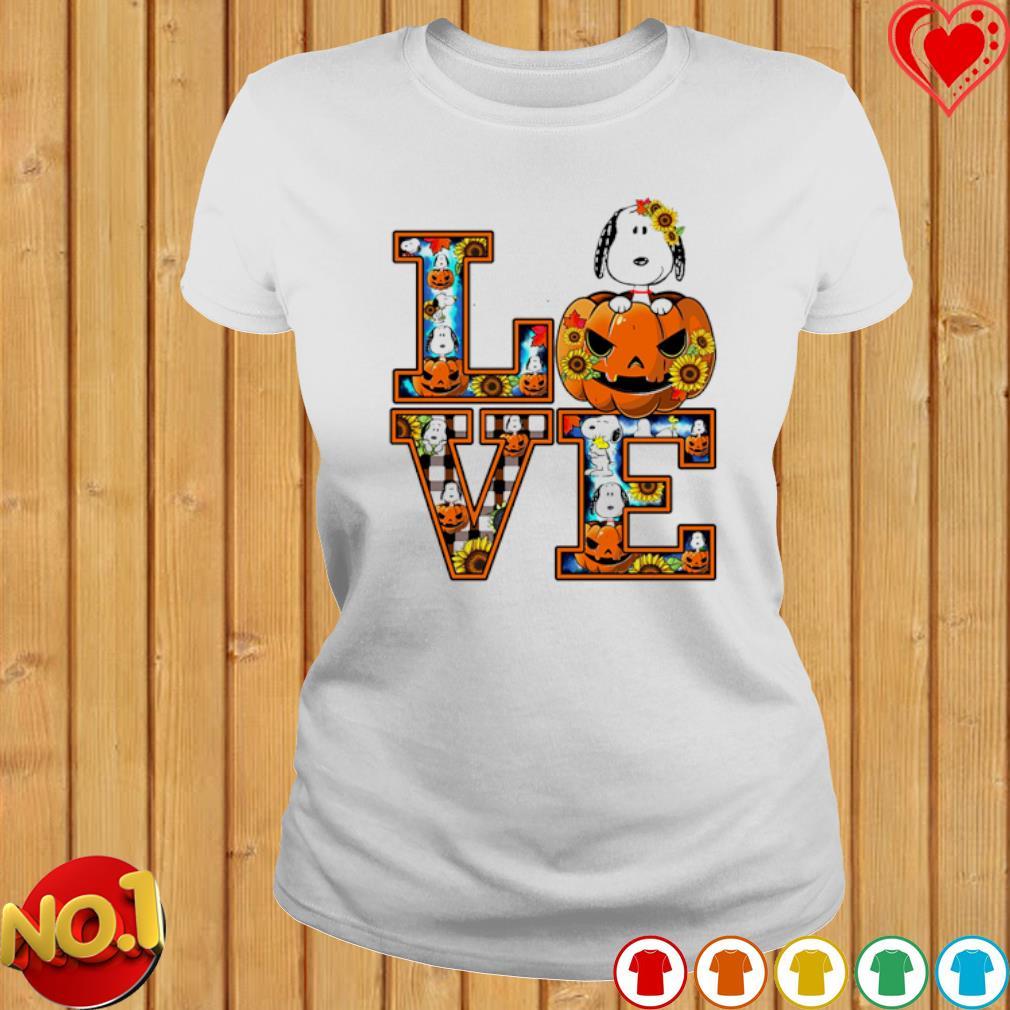 Snoopy pumpkin love Halloween s ladies-tee