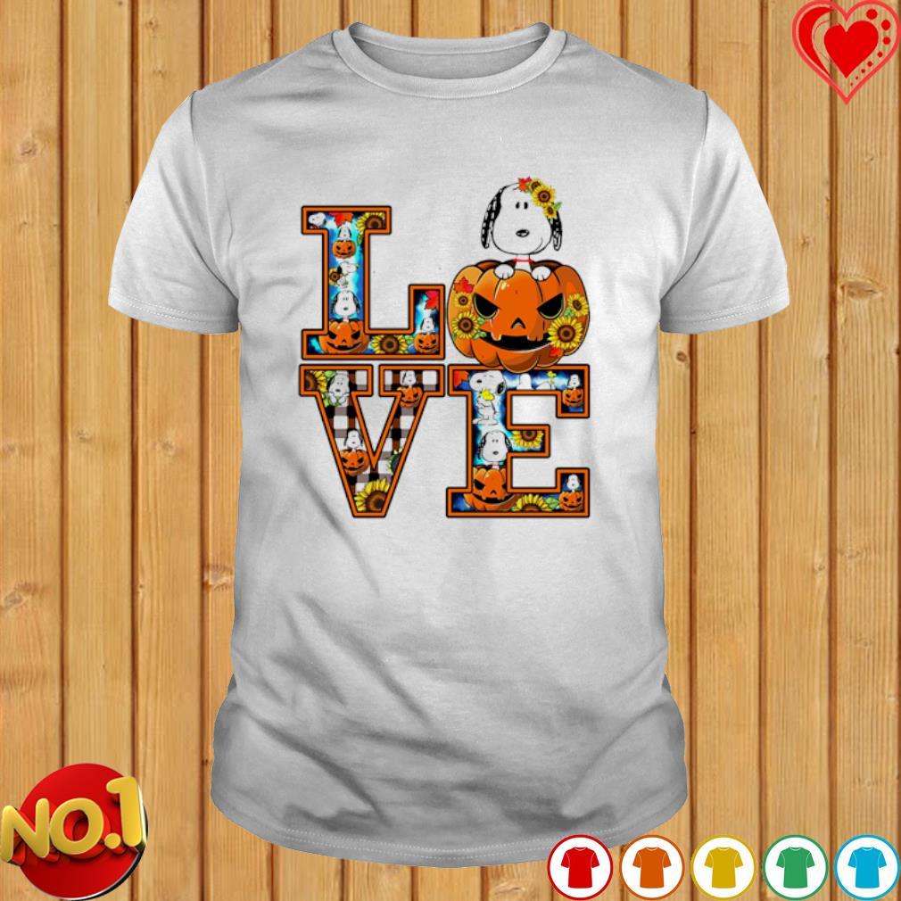Snoopy pumpkin love Halloween shirt