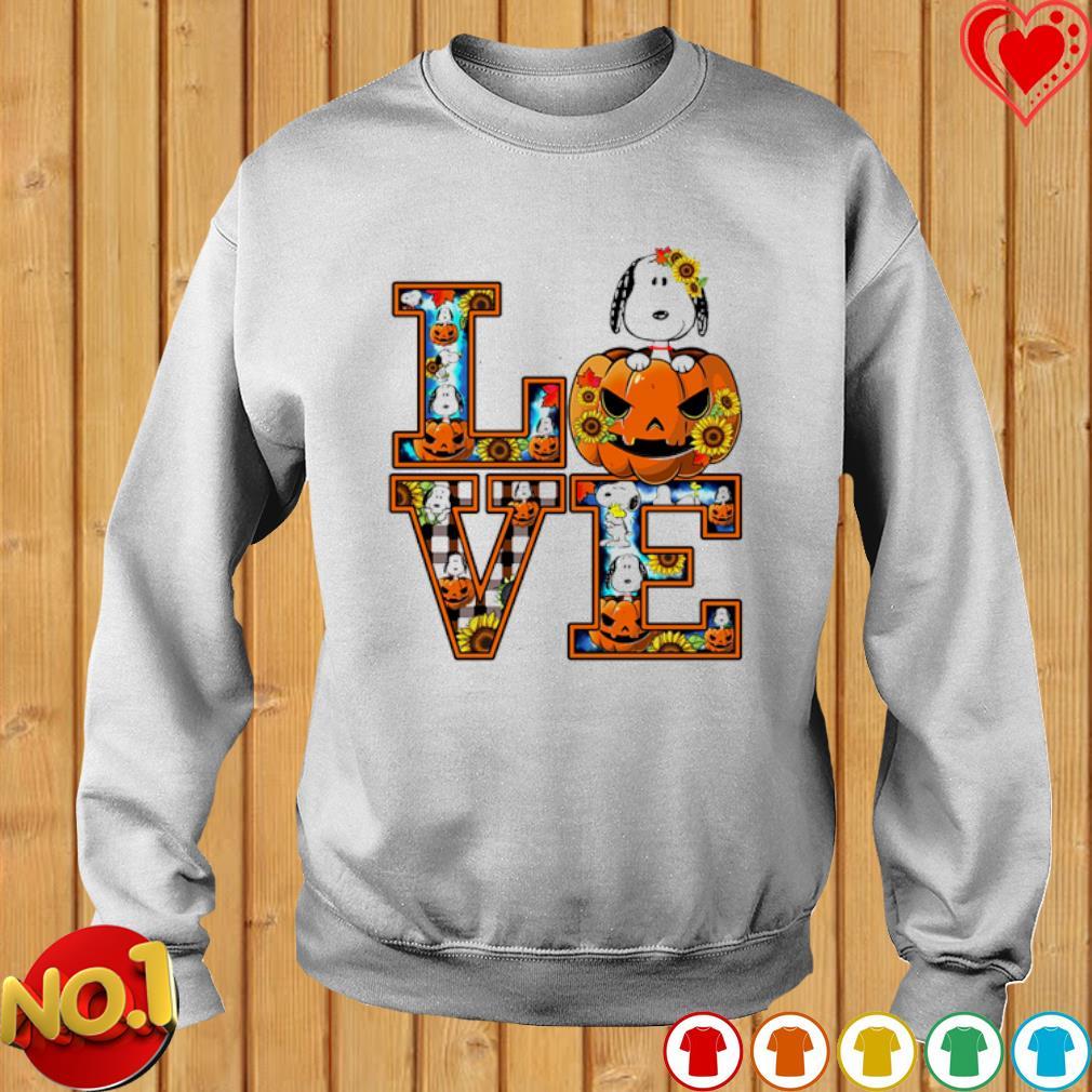 Snoopy pumpkin love Halloween s sweater