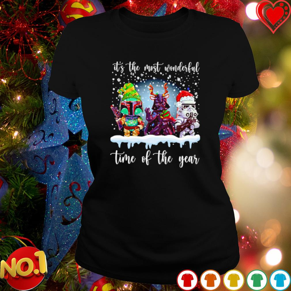 Star Wars characters Christmas it's the most wonderful time of the year s ladies-tee