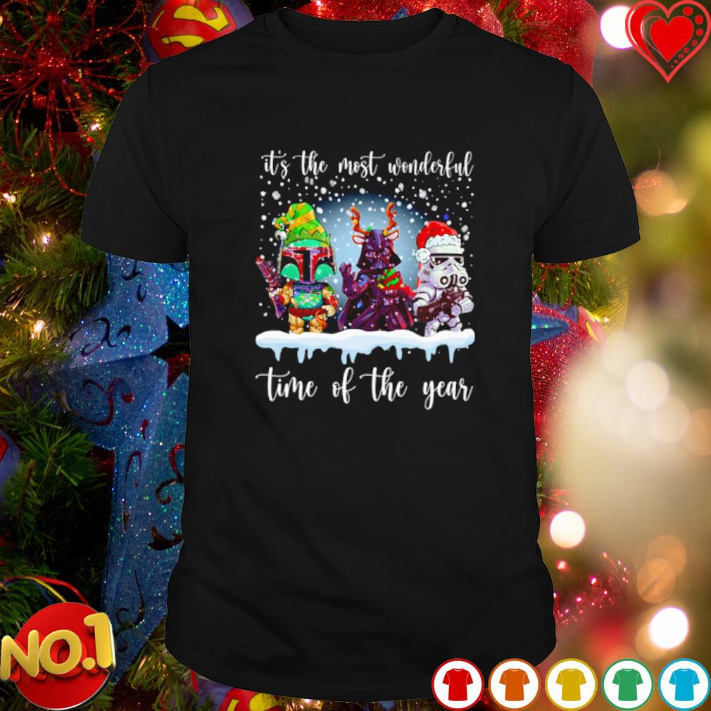 Star Wars characters Christmas it's the most wonderful time of the year shirt