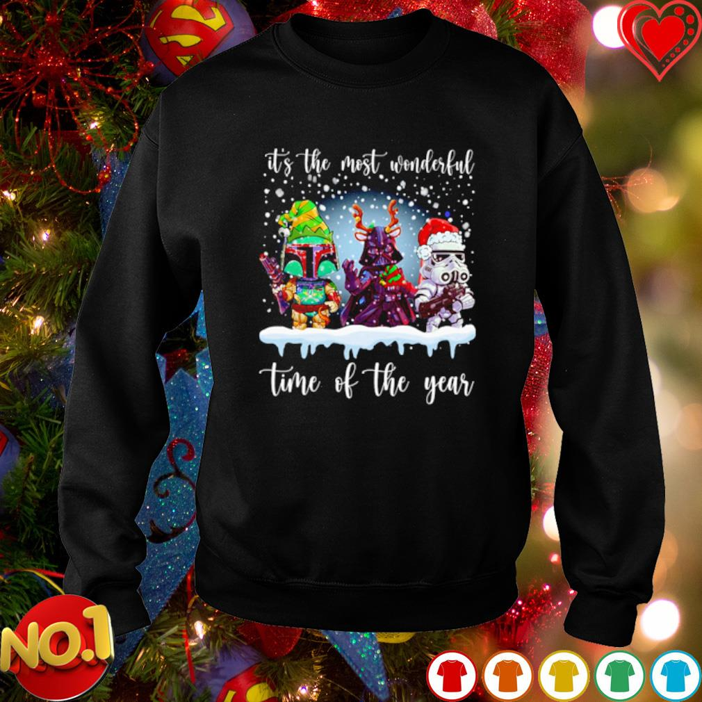 Star Wars characters Christmas it's the most wonderful time of the year s sweater