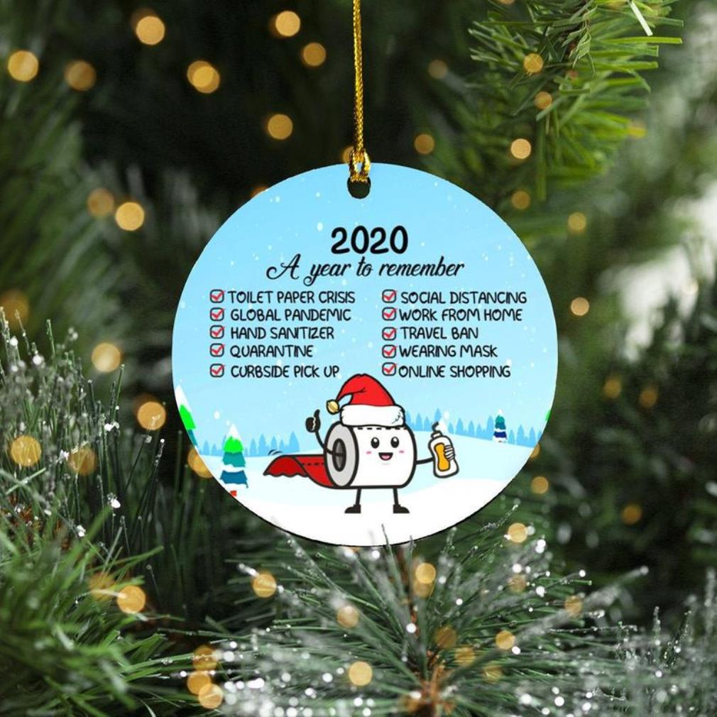 2020 a year to remember decorative Christmas holiday flat circle ornament