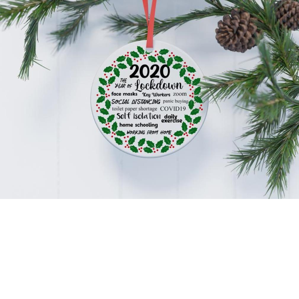 2020 Christmas the year of lockdown face masks ornament