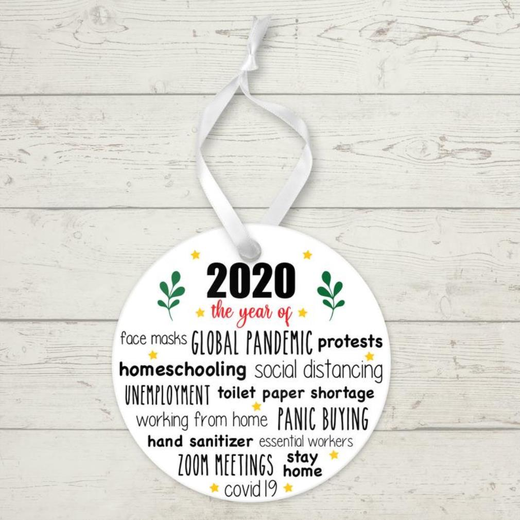 2020 the year of face mask global pandemic protests ornament