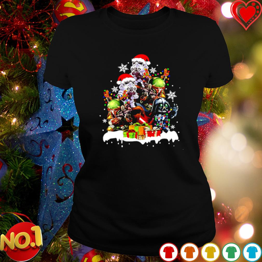 Baby Darth Vader Stormtrooper Boba Fett gift Christmas s ladies-tee