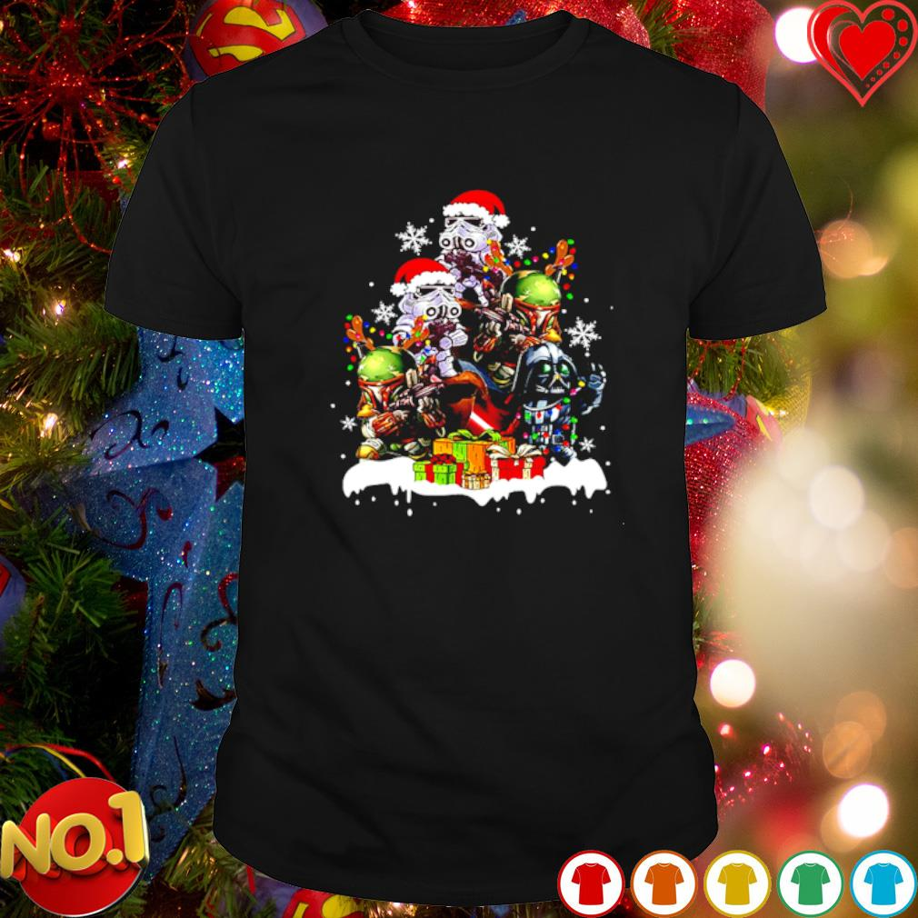 Baby Darth Vader Stormtrooper Boba Fett gift Christmas shirt