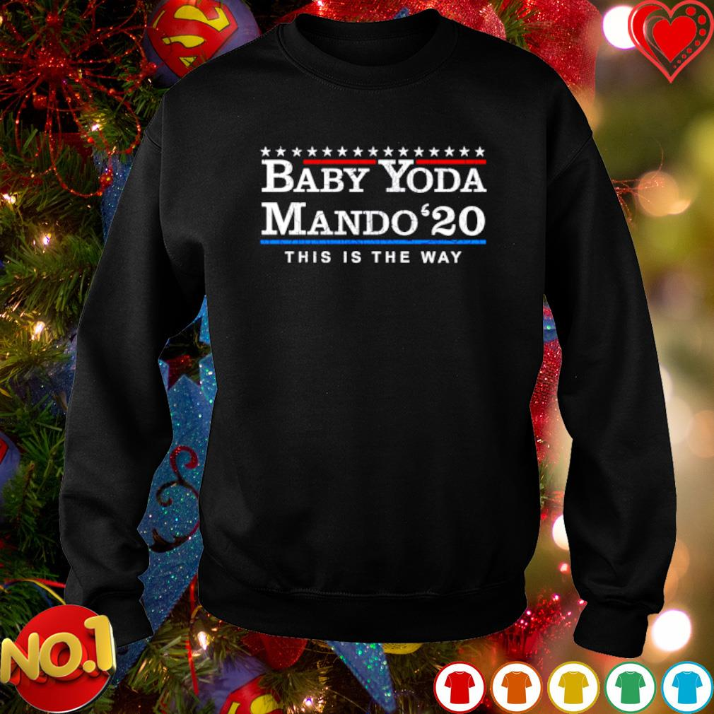 Baby Yoda /& Mando 2024 Pullover Hooded Sweatshirt in Youth and Adult Sizes This is the Way Election Shirt
