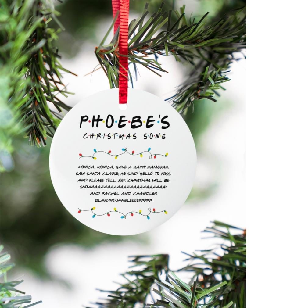 Phoebes Christmas Song Circle Ornament