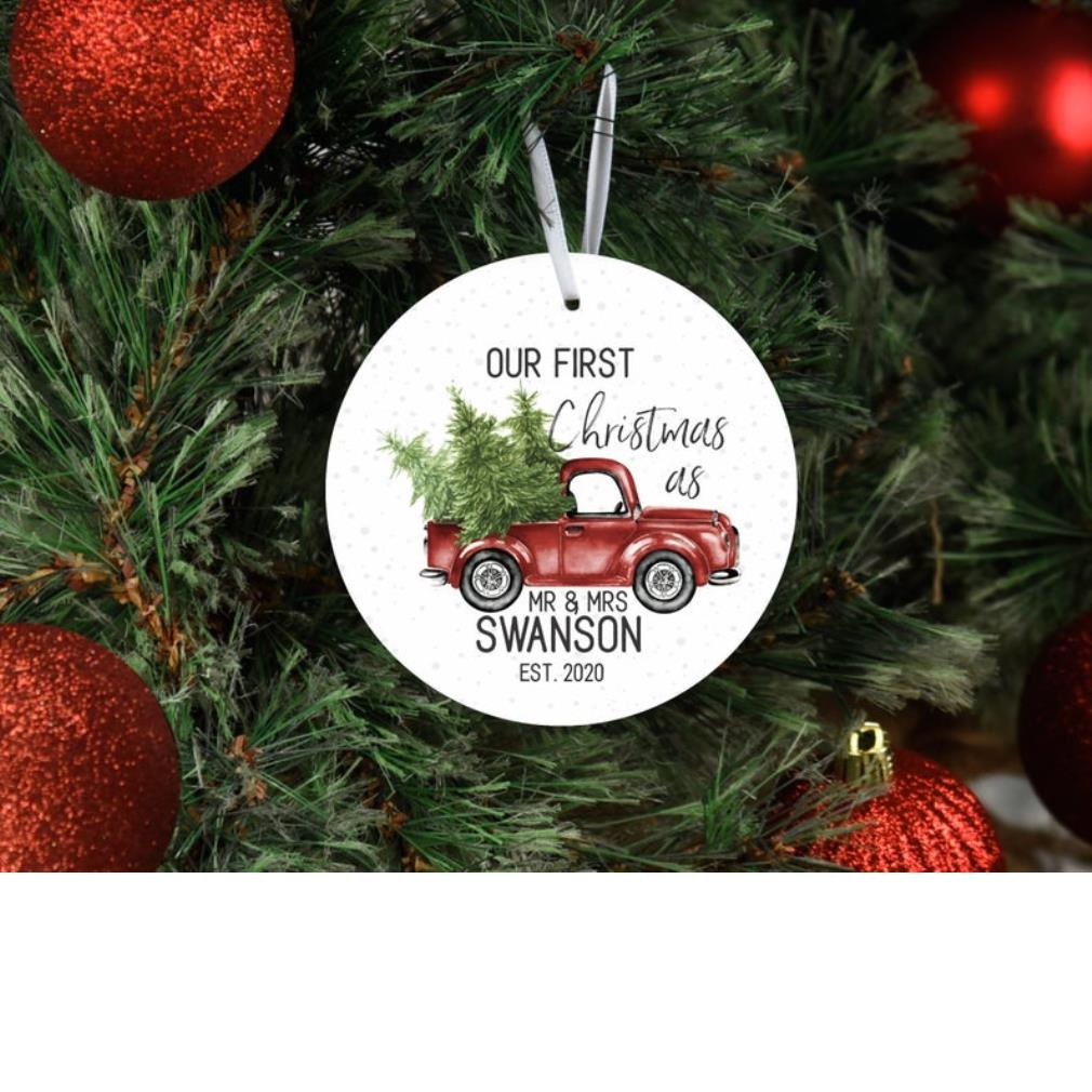 Red car our first Christmas 2020 ornament