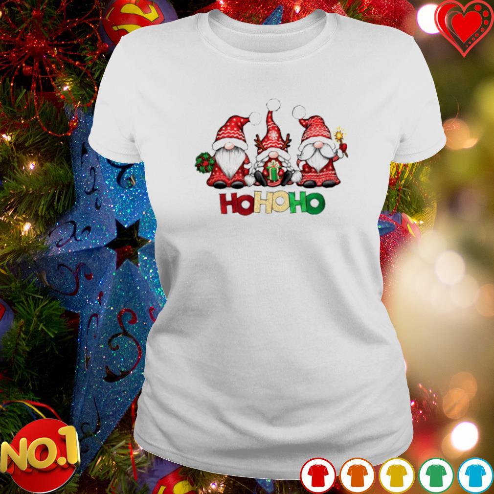 Santa Gnomes ho ho ho merry Christmas s ladies-tee
