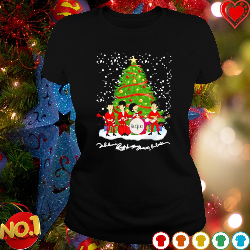 The Beatles chibi Christmas tree s ladies-tee