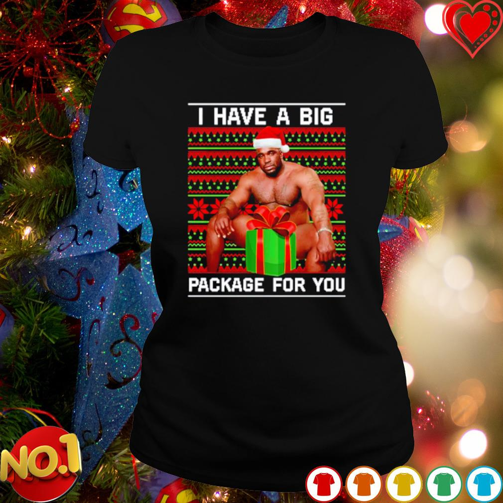 Barry Wood I have a big package for you Christmas gift s ladies-tee