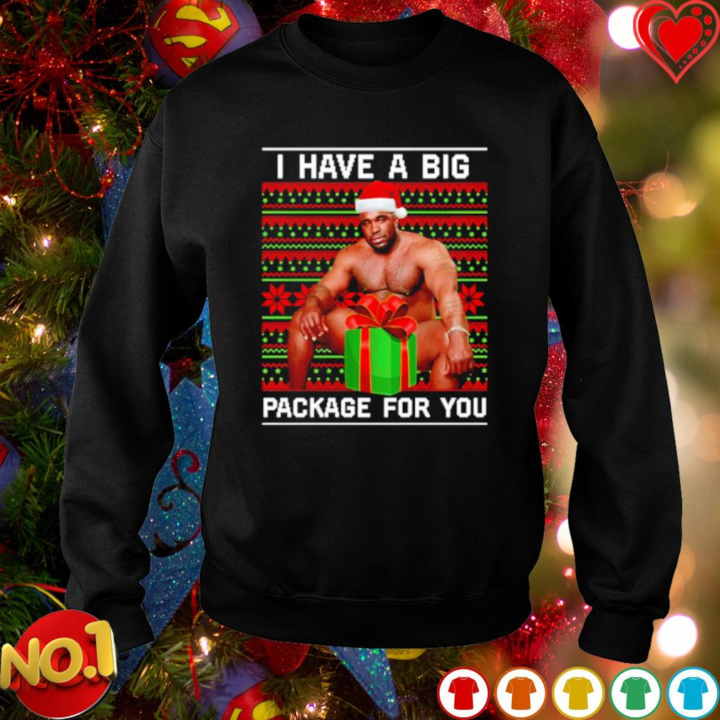 Barry Wood I have a big package for you Christmas gift s sweater