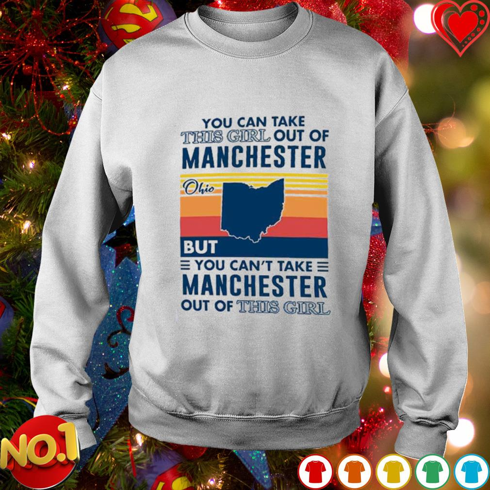 You can take this girl out of Manchester Ohio but you can't take Manchester out of this girl s sweater