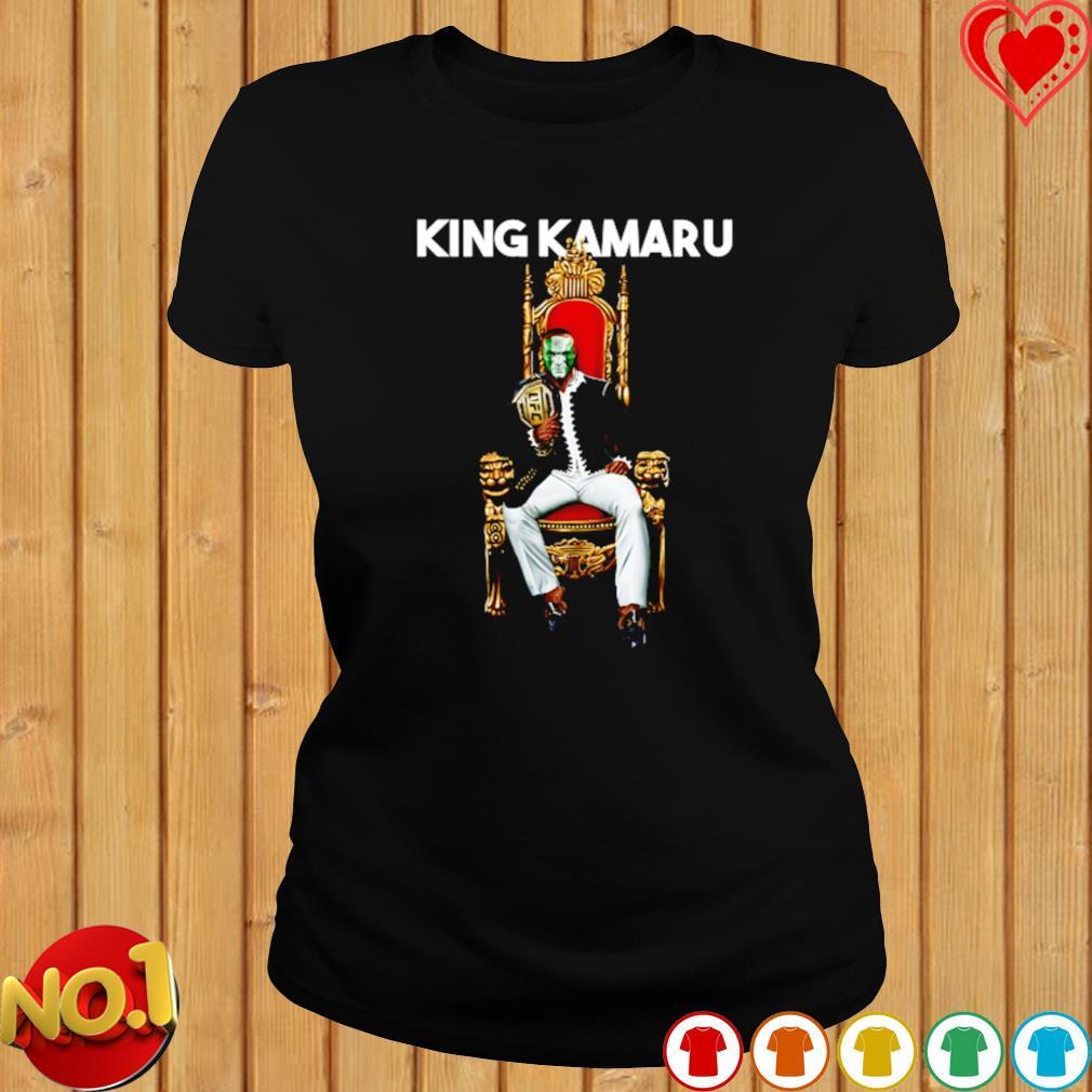 King Kamaru Usman On Throne Mma s ladies-tee