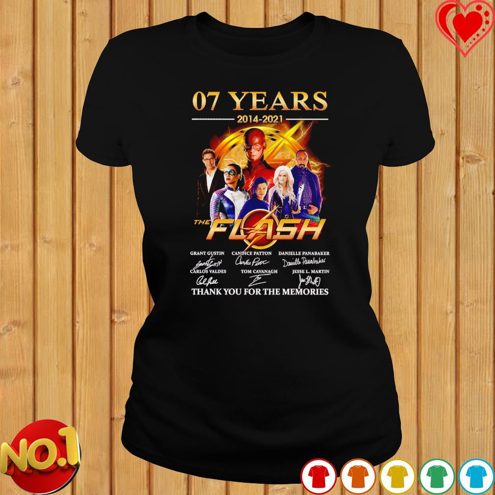 07 years 2014 2021 The Flash thank you for the memories signatures s ladies-tee