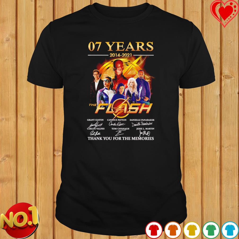 07 years 2014 2021 The Flash thank you for the memories signatures shirt