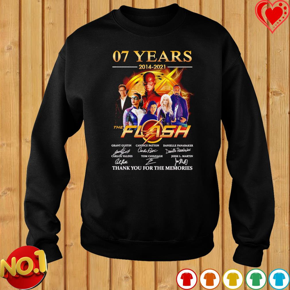 07 years 2014 2021 The Flash thank you for the memories signatures s sweater