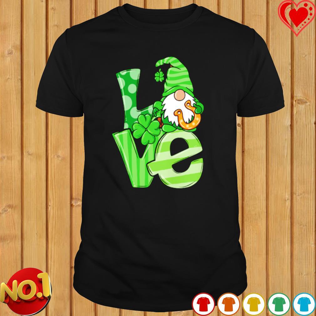 Gnome love Shamrock St Patrick's Day shirt