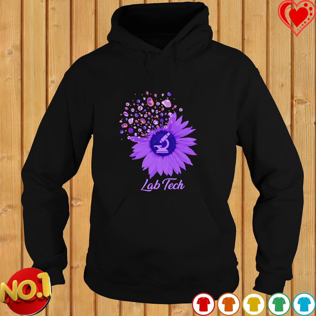 Lab Tech sunflower dandelion s hoodie
