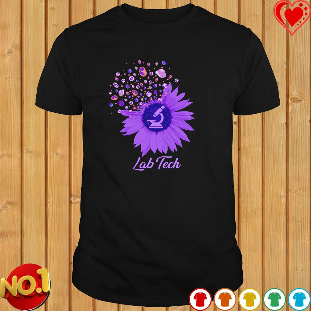 Lab Tech sunflower dandelion shirt
