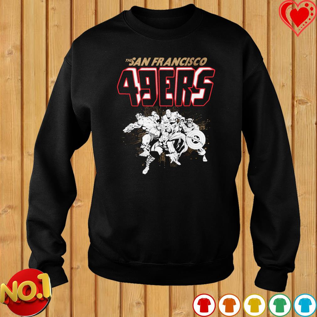 The San Francisco 49ers Avengers team NFL s sweater