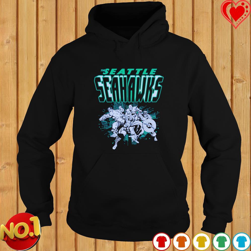The Seattle Seahawks Avengers team NFL s hoodie