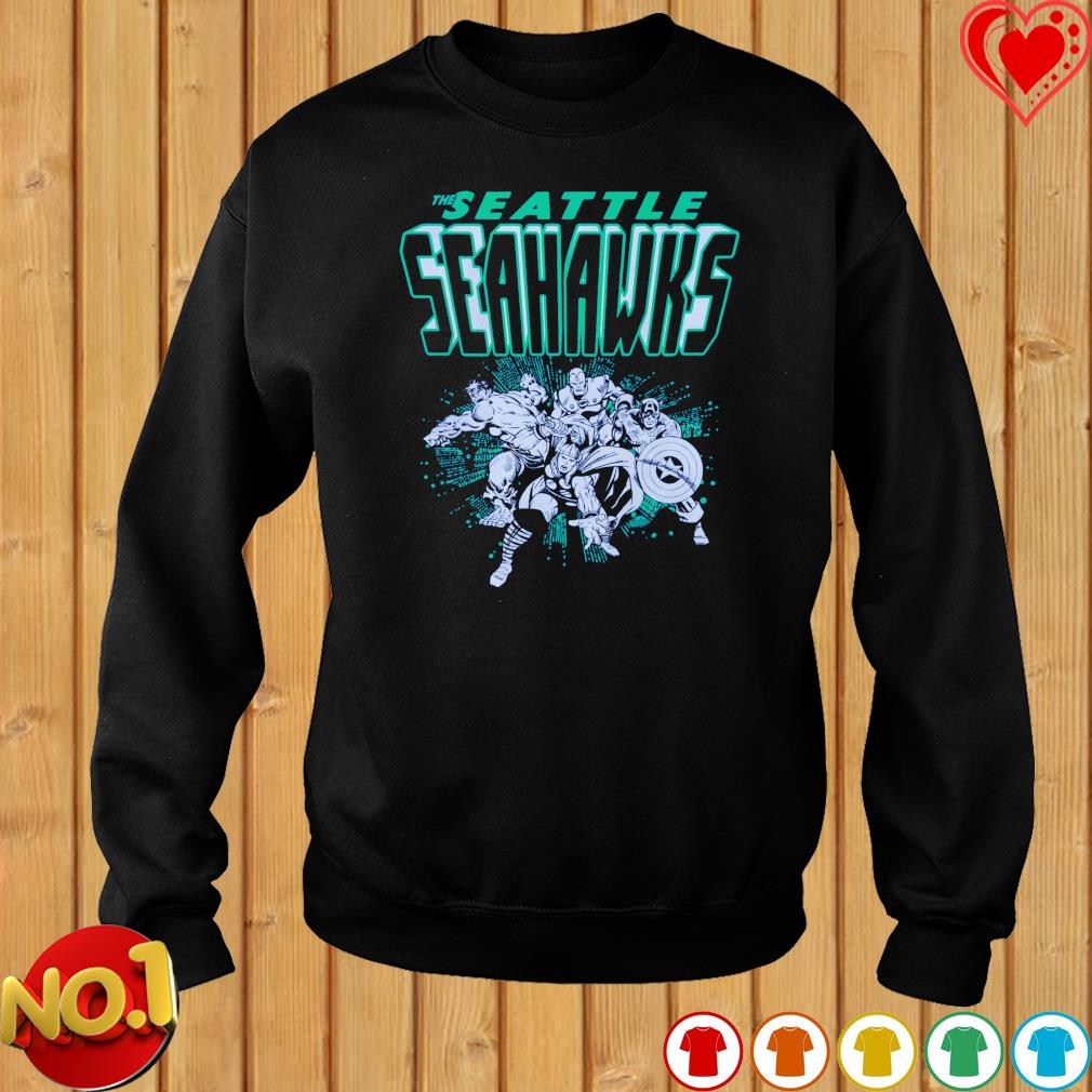 The Seattle Seahawks Avengers team NFL s sweater
